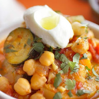 Tagine Of Pumpkin And Chickpeas