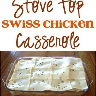 Stove Top Swiss Chicken Casserole.