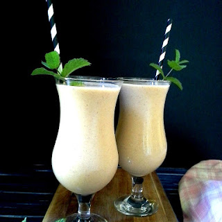 Peach Milkshake without Ice Cream Recipe, How to make Peach Milkshake without Ice Cream