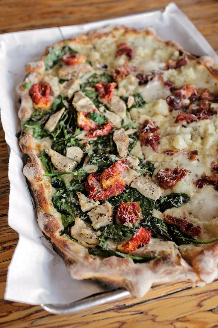 Mashed Potato Pizza at Urbn Pizza North Park San Diego CA.