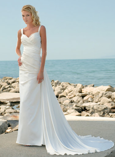 Beach White Wedding Dress