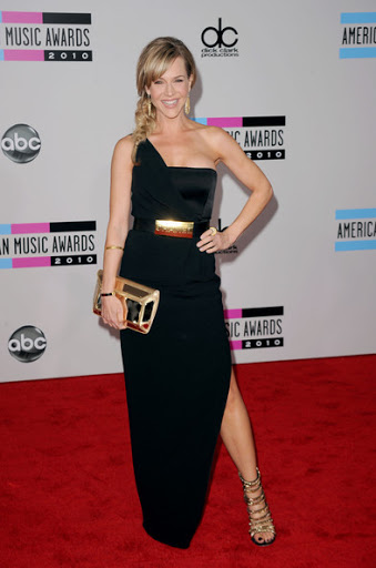 Julie Benz Sexy in One Shoulder at AMA 2010