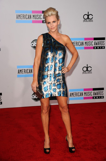 Jenny McCarthy One Shoulder Stella Mccartney Dress at AMA 2010