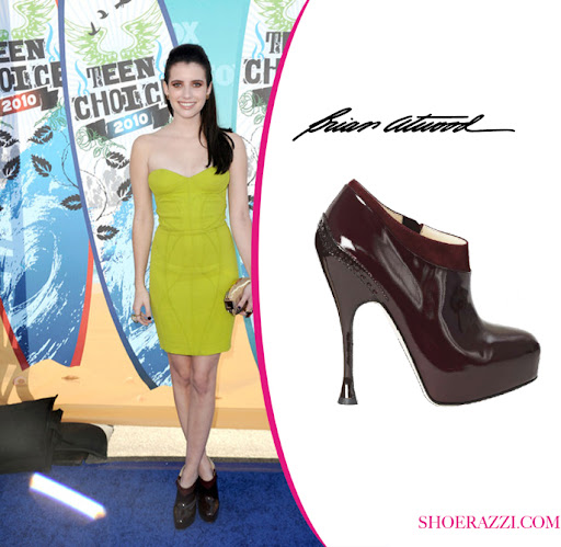 Emma Roberts in Brian Atwood Shoes