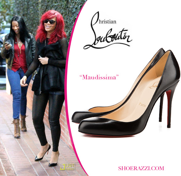 Christian Louboutin Maudissima Shoes ; Celebrity Rihanna