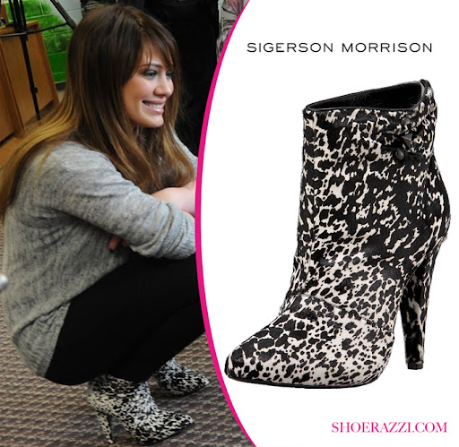 Hilary Duff in Sigerson Morrison Boot Shoes