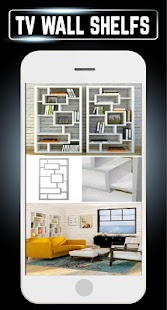 TV Book Shelf Wall Furnitures Decorating DIY Ideas - náhled