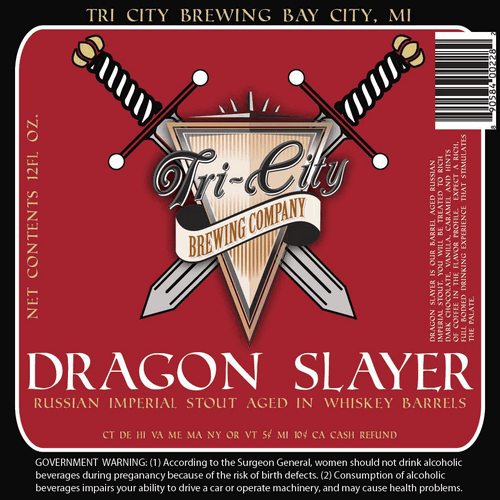 Logo of Tri-City Dragon Slayer Barrel Aged Russian Imperial Stout