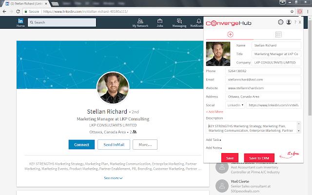 ConvergeHub Lead Generator - Chrome Web Store