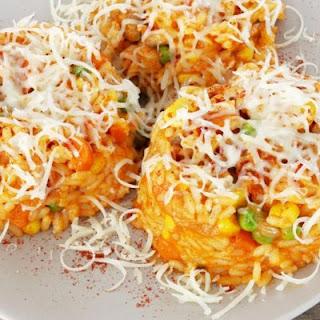 Cheesy Paprika Veggie Rice Casserole