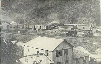 Photo: Estação do Alto da Serra. Neste local está edificado um conjunto de BNH. Foto do início do século XX