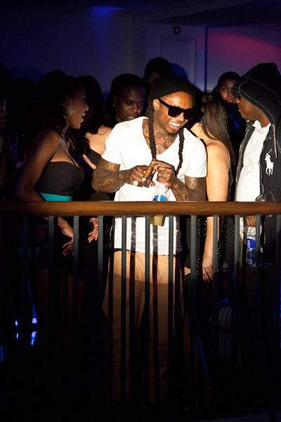 Foto do Lil Wayne no clube Boulevard3
