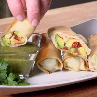 Baked Avocado Rolls.