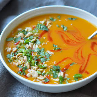 Thai-Style Butternut Squash Soup with Coconut Milk.