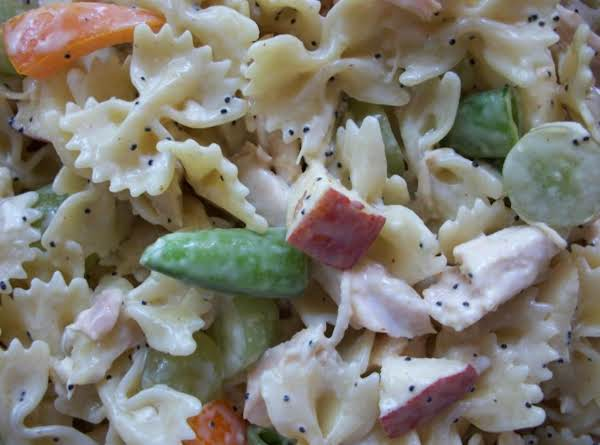 Honey Poppy Seed Pasta Salad