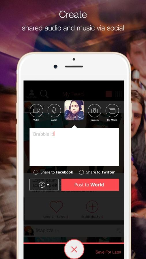 Brabble: Share, post & chat- screenshot