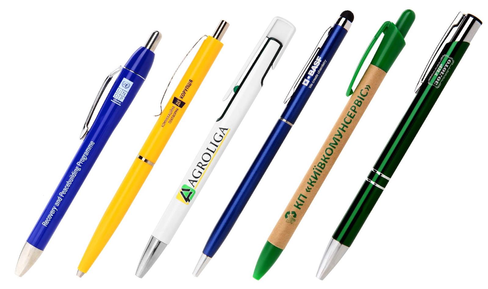 Нанесение логотипа на ручки в Киеве – с компанией deksgroup.com