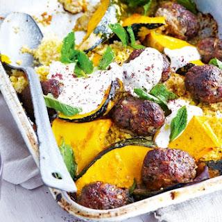 Roast Lamb Koftas With Pumpkin And Crisp Couscous