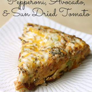 Pepperoni, Avocado, and Sun dried Tomato Stovetop Frittata