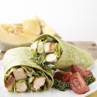 Grilled Chicken Caesar Salad Wrap.