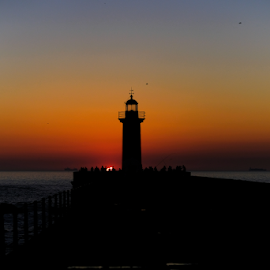 Lighthouse sunset by Carlos Pereira - Buildings & Architecture Other Exteriors