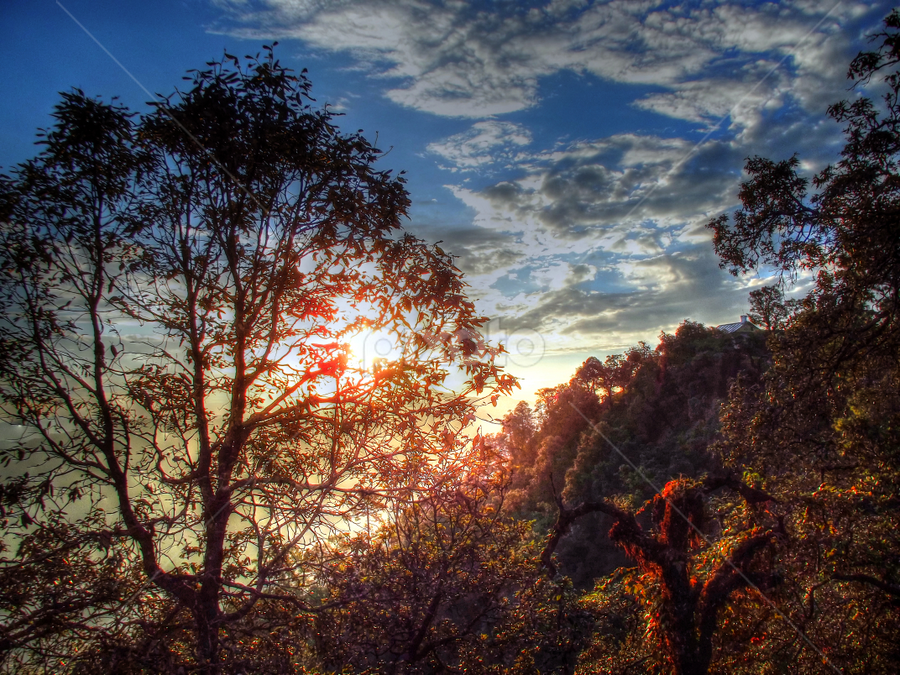 Bright Sunny Morning by Prateek Majumdar - Landscapes Mountains & Hills ( pure, mountain, hdr, serene, sunny, morning )