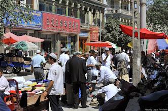 Photo: Kasgári bazár, Kashgar, Kasgár, Péczeli Lajos, Ujgúria, Bazár Kasgárban