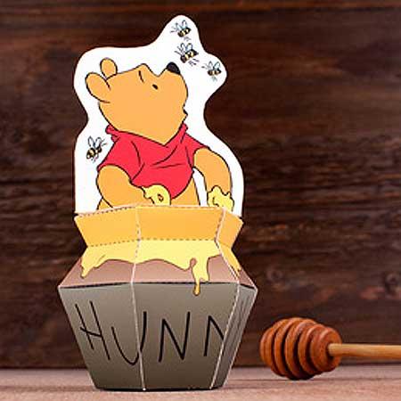 Winnie the Pooh Hunny Pot Papercraft