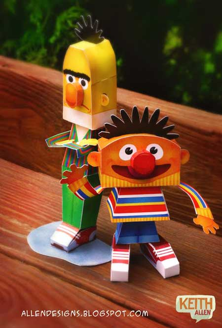 Sesame Street Papercraft Bert and Ernie