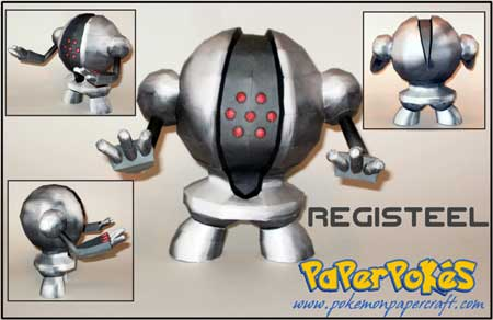 Pokemon Registeel Papercraft