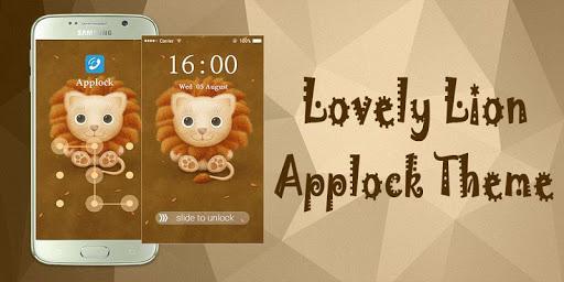 Applock Theme Lovely Lion