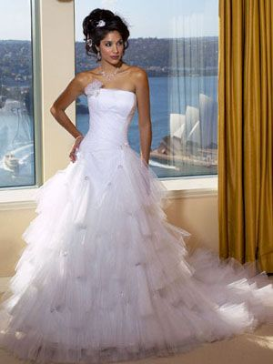 Ruffled-Ball-Wedding-Gown