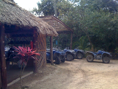 See them thar ATVs? I'm about to ride one of those through the jungle