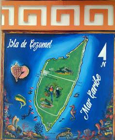 Mural map of Cozumel