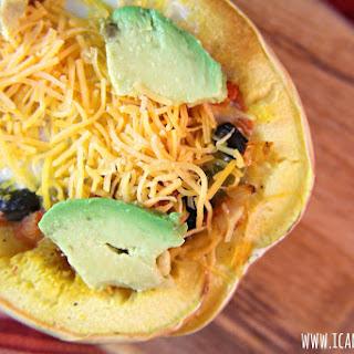 Mexican Spaghetti Squash Egg Boats.