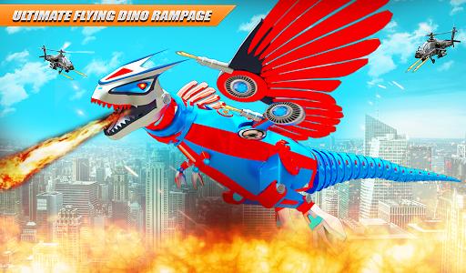 Flying Dino Transform Robot: Dinosaur Robot Games screenshot 11