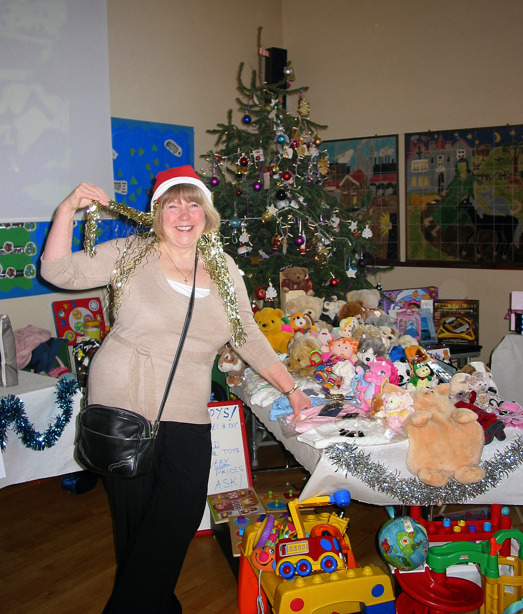 Photo: Anne with her cuddly toys