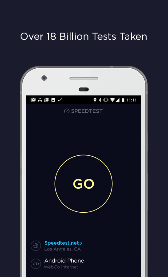 Speedtest by Ookla – snimka zaslona