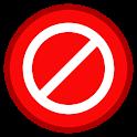 Don't press the button icon