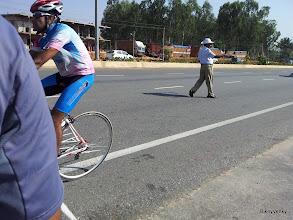 Photo: Arvind crossing the finishline..