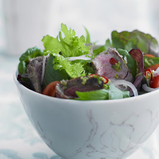 Spicy Beef Salad with Cilnatro and Lime