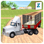 Real Animal Transport Truck Icon