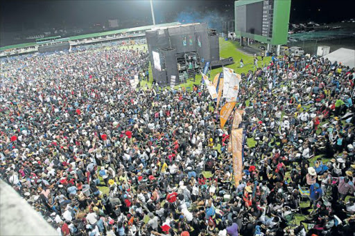 Crowds at the Buyele'khaya Pan African Music Festival at Buffalo Park Cricket Stadium Picture: FILE