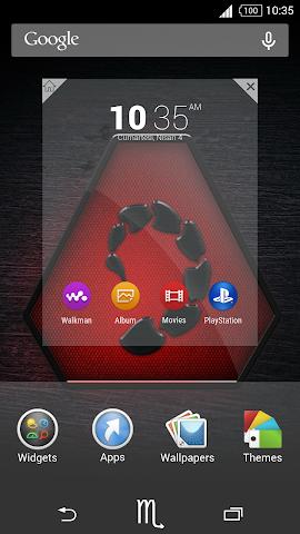 android For Xperia Theme Scorpio Screenshot 3