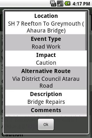 NZRoadInfo screenshot 4