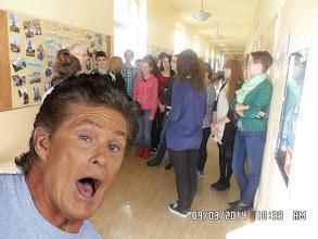 Photo: Celebrity photobomb! Auto #Hoffsome