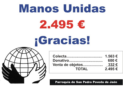 2.495 € para Manos Unidas