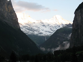 Photo: Looking upvalley from a Lauterbrunnen campsite.