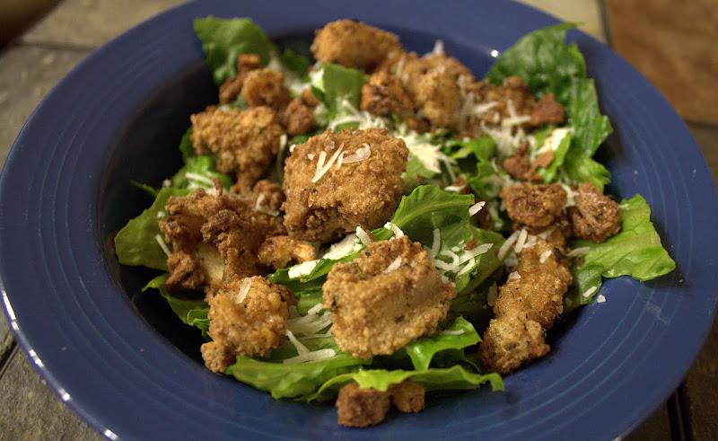 Cajun Calamari Caesar Salad