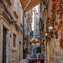 Dubrovnik street by Branko Meic-Sidic - City,  Street & Park  Street Scenes ( croatia, street, hdr, dramatic, dubrovnik, meicsidic, stone, oldtown )
